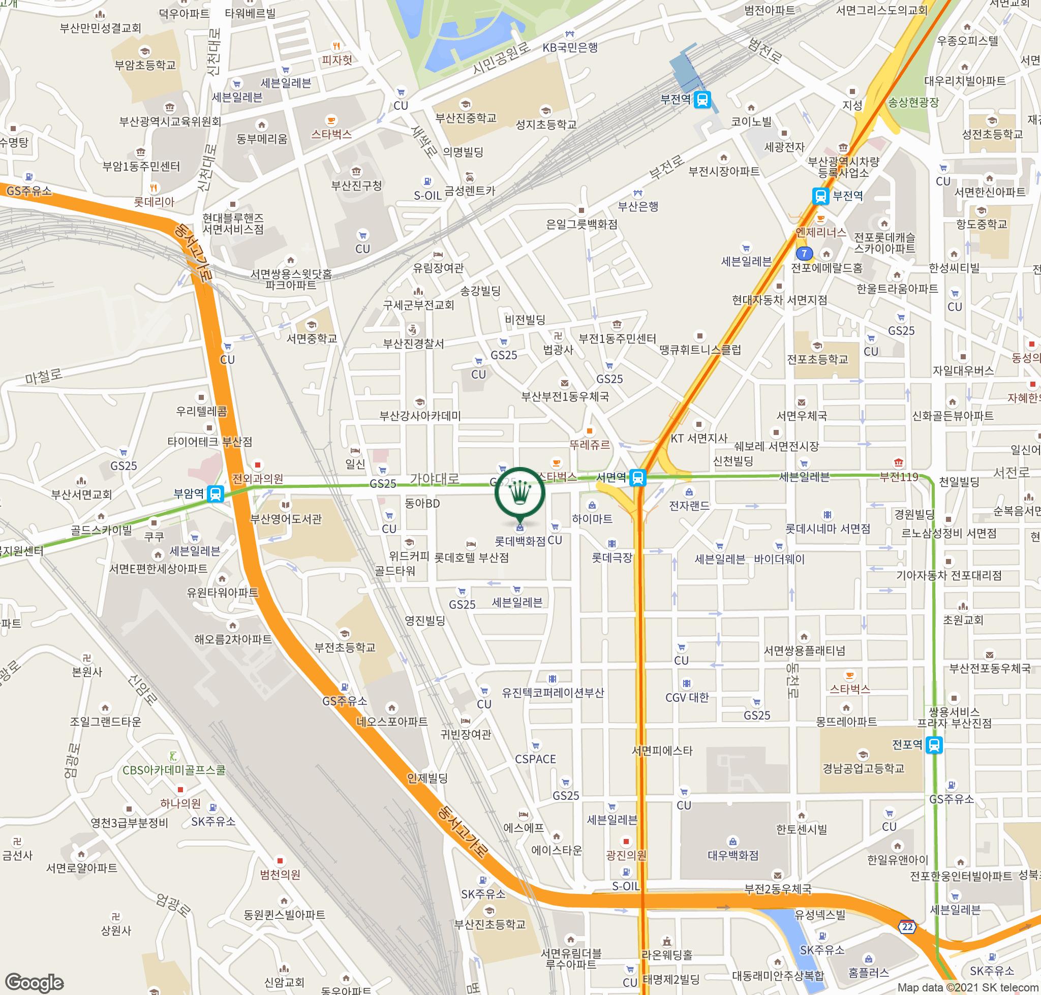 홍보시계 지도